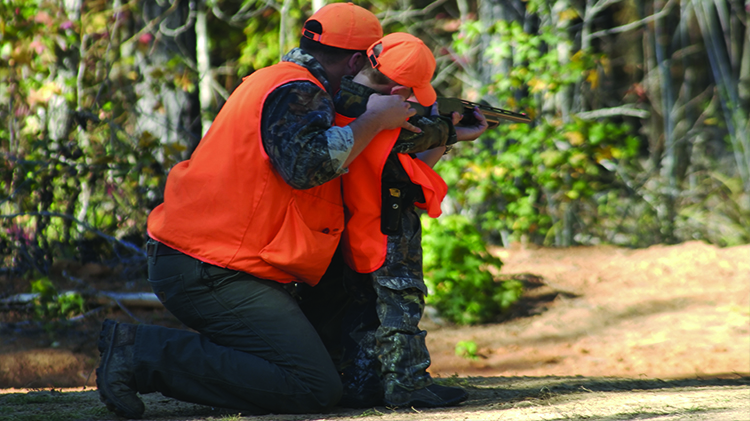 Father and Son Rifle Shoot