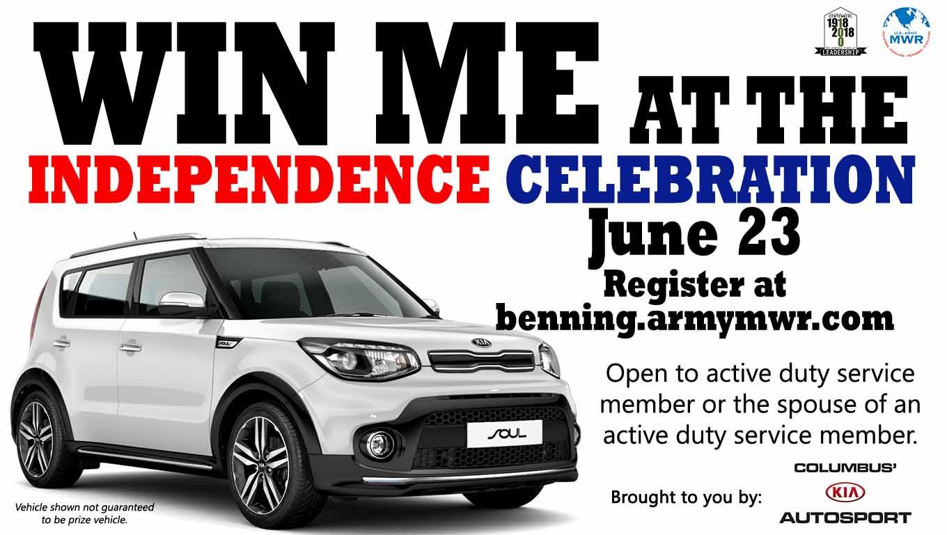 Win a car at the Independence Celebration!