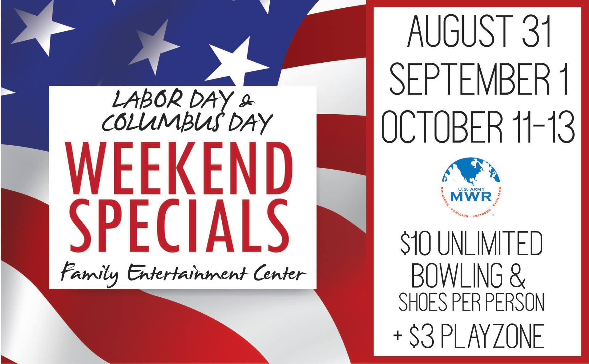 Mall Bowling Labor Day Weekend Special